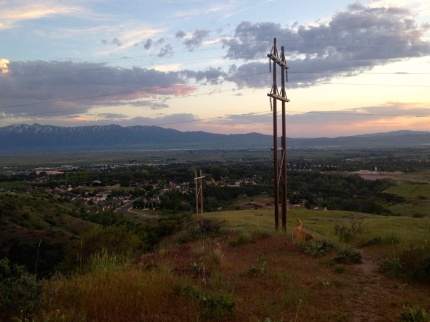 Credit: Brooke Stobbe View of Cache Valley at sunset from the Seven Pyramids in Smithfield