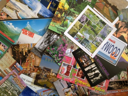 After over 20 years of collecting postcards, my collection includes Asia, the South Pacific, all of Western Europe, Central America, around the United States and Canada. Photo by Brooke Stobbe