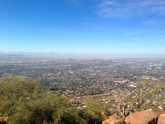 The Phoenix Valley from the top of Camelback mountain. Photo by Brooke Stobbe