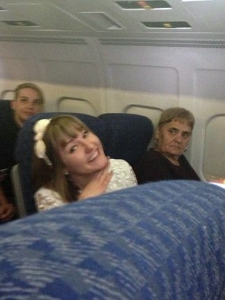 Here is an example of a time a passenger didn't want to talk. Photo by Tamara Kraus.