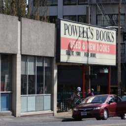 Powell's bookstore so big, actually needs map