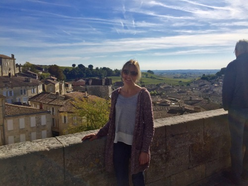 While the view of St. Emilion is beautiful from the church, I would've loved to have gotten a picture without another tourist.