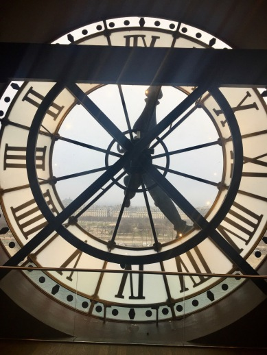 A beautiful of Paris through the museum's clocks.