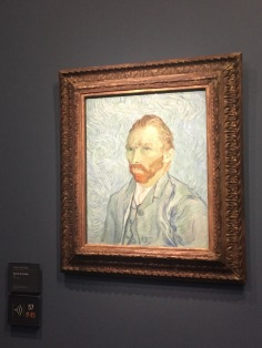 Classic self-portrait of famous painter Van Gough.