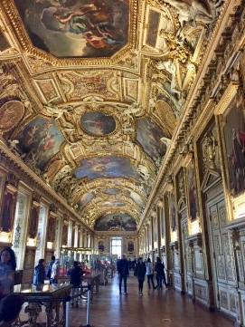 A spectacular room inside the Louvre.