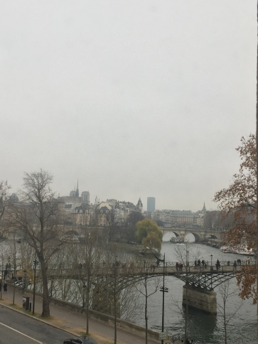 View outside the Louvre of the Ile de City