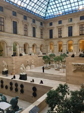 A beautiful gallery inside the Louvre.
