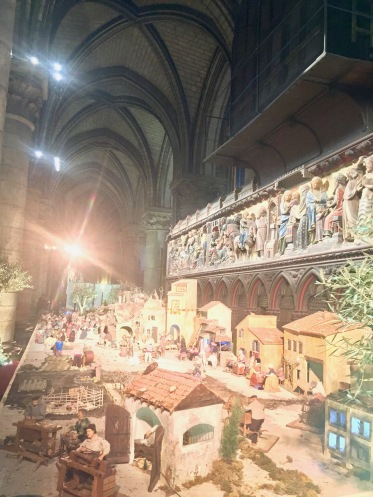 There was a massive nativity set up in the back of the cathedral.