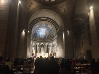 The interior of the Sacré-Coeur.