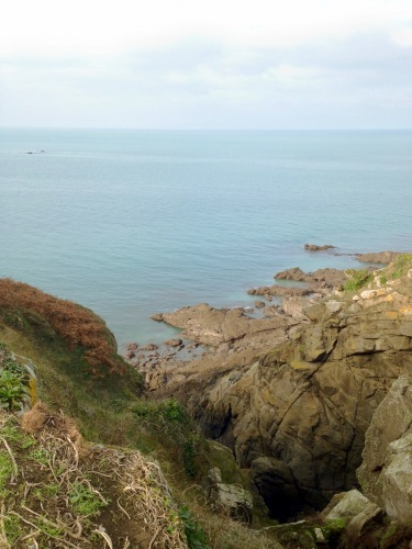 Facing south, looking down the coast of Brittany