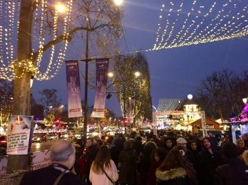 The Christmas Market on the Champs-Elysées.