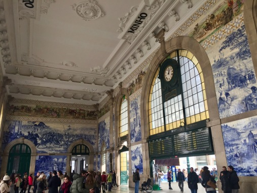 A train station is only a bizarre tourist sight until you go to the one in Porto.