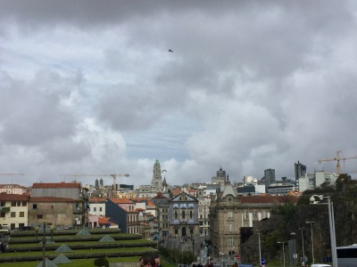 View of Porto from the cathedral plaza.