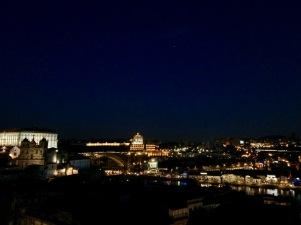Gorgeous lights illuminate the city.