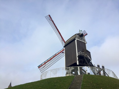 The famous Dutch windmills were an exciting surprise when cycling around.
