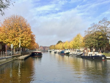 A gorgeous, fall day, I loved the reflections of the trees in the canals.