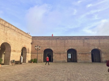 The inside of Monjuïc Castle.