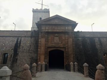 The entrance drawbridge into the fortress.