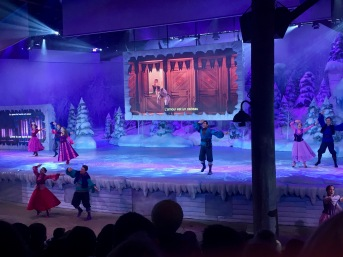 A Frozen sing-a-long spectacular. I loved singing along with the French translations.