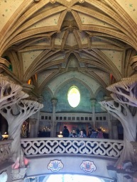 The castle's interior is like a walk through Arora's forest.