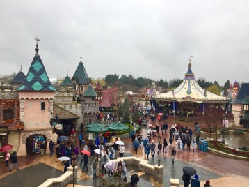 Fantasyland as seen from the castle balcony.
