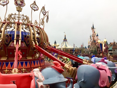 Rode the Dumbo elephants, as in my family tradition.